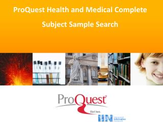 ProQuest Health and Medical Complete  Subject Sample Search