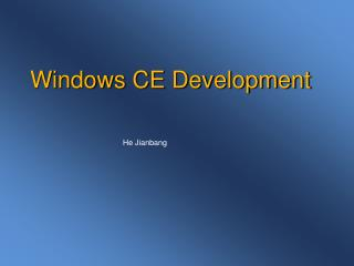 Windows CE Development