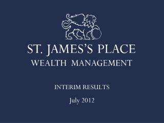 INTERIM RESULTS July 2012