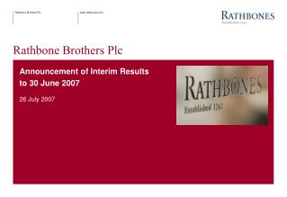 Rathbone Brothers Plc