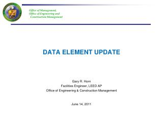 DATA ELEMENT UPDATE
