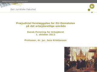 """Udvalgte, foreløbige resultater fra projektet """"Dansk flexicurity og europæisk integration"""