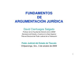 FUNDAMENTOS  DE ARGUMENTACIÓN JURÍDICA