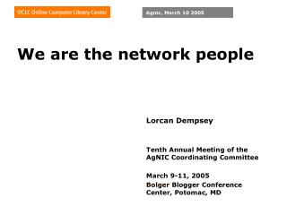 We are the network people