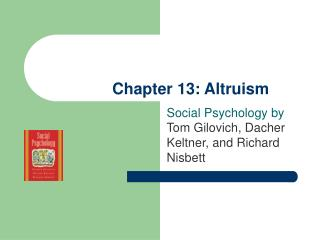 Chapter 13: Altruism