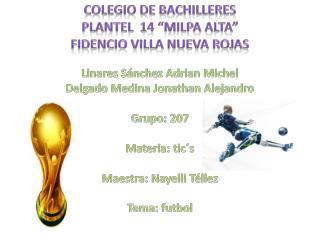 """Colegio de bachilleres  plantel  14 """"Milpa alta"""" Fidencio villa nueva rojas"""