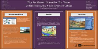 The Southwest Scene for  Tox  Town: Collaboration with a Native-American College