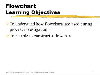 Flowchart  Learning Objectives