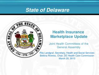 Health Insurance  Marketplace Update