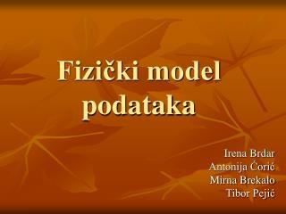 Fizički model podataka