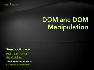 DOM and DOM Manipulation
