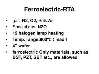 Ferroelectric-RTA