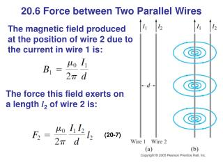 20.6 Force between Two Parallel Wires