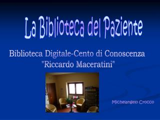 La Biblioteca del Paziente