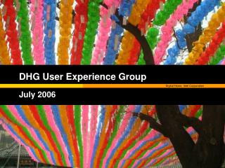 DHG User Experience Group July 2006