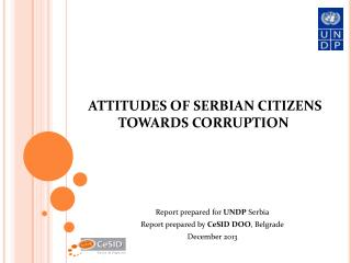 ATTITUDES OF SERBIAN CITIZENS TOWARDS CORRUPTION