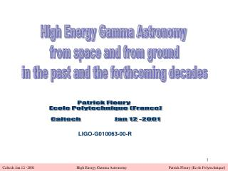 High Energy Gamma Astronomy  from space and from ground in the past and the forthcoming decades