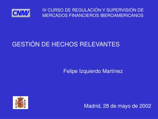 GESTIÓN DE HECHOS RELEVANTES