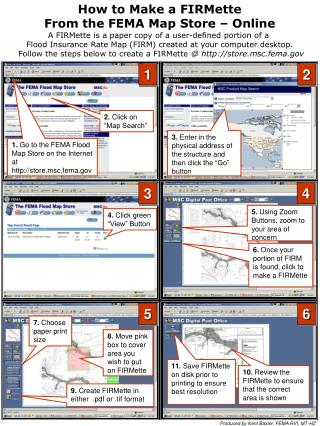 How to Make a FIRMette From the FEMA Map Store – Online