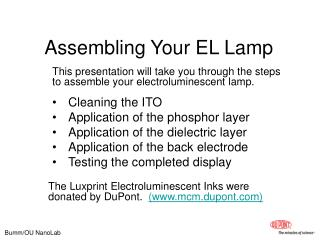 Assembling Your EL Lamp