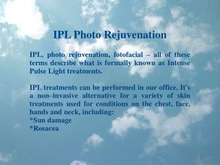 Dr Kris Reddy Reviews IPL Photo Rejuvenation