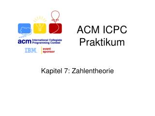 ACM ICPC  Praktikum