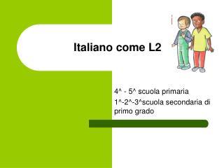 Italiano come L2