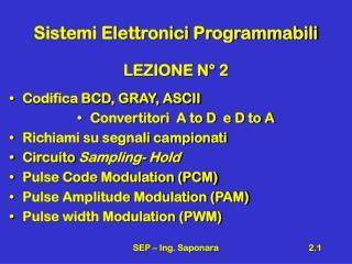 Sistemi Elettronici Programmabili