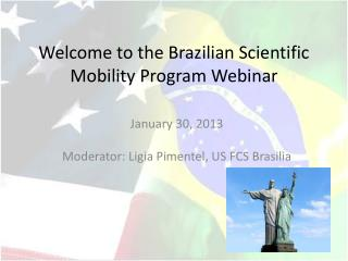 Welcome to the Brazilian Scientific Mobility Program Webinar