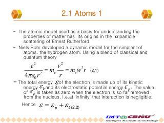 2.1 Atoms 1