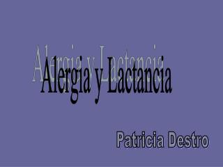 Alergia y Lactancia