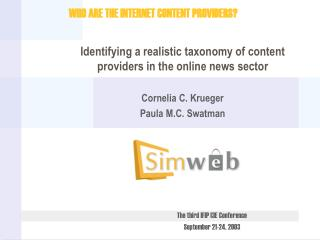 Identifying a realistic taxonomy of content providers in the online news sector
