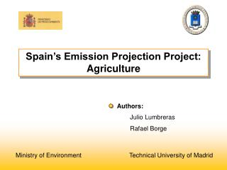 Spain's Emission Projection Project: Agriculture