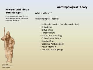 How do I think like an anthropologist?