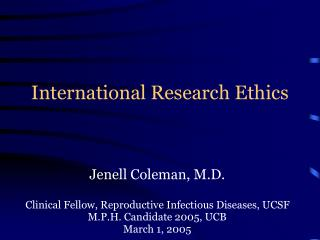 International Research Ethics