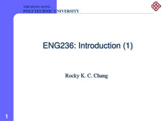 ENG236: Introduction 1