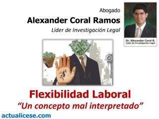 """Flexibilidad Laboral  """"Un  concepto mal  interpretado"""""""