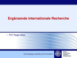 Ergänzende internationale Recherche