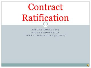 Contract Ratification Vote