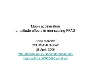 Muon acceleration - amplitude effects in non-scaling FFAG -