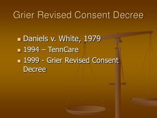 Grier Revised Consent Decree