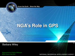 NGA's Role in GPS