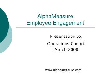 AlphaMeasure Employee Engagement