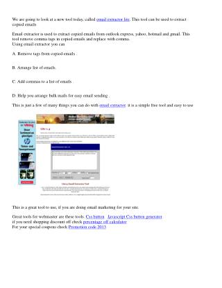 This is a great tool to use, if you are doing email marketing for your site.