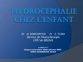 Hydrocéphalie chez l'enfant