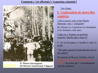 Comment s'est effectuée l'expansion coloniale?