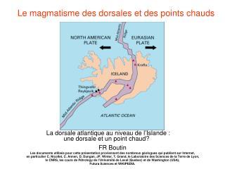 La dorsale atlantique au niveau de l'Islande :           une dorsale et un point chaud?