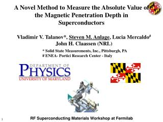 RF Superconducting Materials Workshop at Fermilab