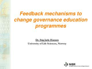 Feedback mechanisms to change governance education programmes