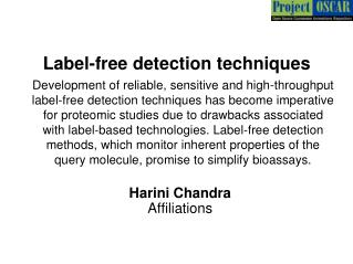Label-free detection techniques